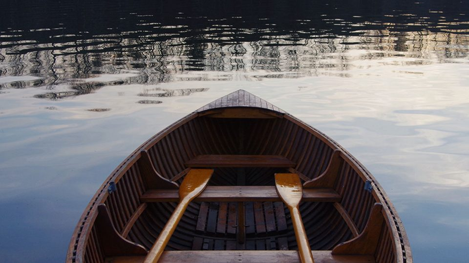 Row Boat on Water